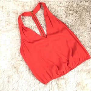 Red Tank Silky Blouse Size XS bebe brand